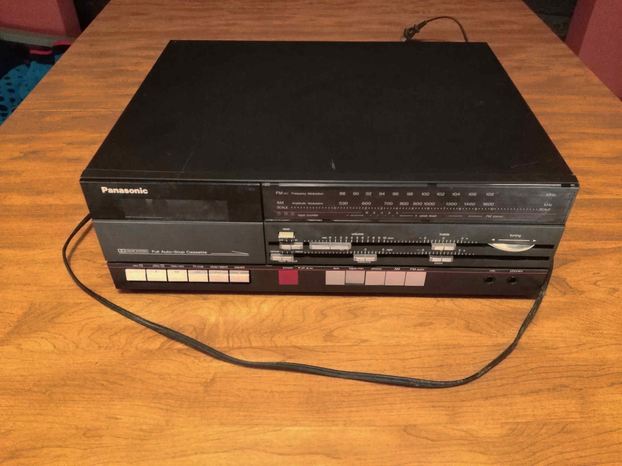 Panasonic tape deck front view